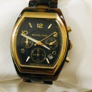Michael Kors Tortoise Ladies' Chronograph Watch